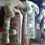 Зимняя куртка ZLYA эко кожа