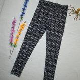 Суперовые стрейчевые брюки леггинсы в мраморный принт с замочком сбоку Atmosphere.