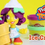 набор Hasbro Play-Doh Town B5960 B5978 плей до продавец мороженица
