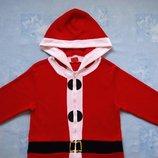 размер S, Новогодний махровый взрослый костюм-человечек-пижама Санта, Cosy Christmas, б/у. Хорошее с