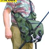 Сумка для ходовой рыбалки с держателем удилища - Скаут S55cout 1.0 Свободные руки