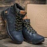 мужские зимние кожаные термо ботинки Timberland размеры от 40 до 45р