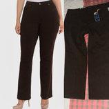 Коричневые джинсы батал 24w straight leg длина 32 1/2 на 60-62, классическая посадка
