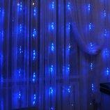 Гирлянда водопад 560 LED, 3 2 метра, Синяя