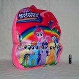 Детский новый рюкзак ранец с героями разные my little pony литл пони выполнен из плюша