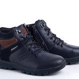 Ботинки на мальчика W1821 Eеbb синий 39 Зимние ботинки для мальчика синего цвета.