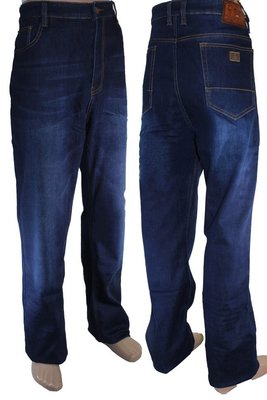 Мужские, прямые, джинсы на флисе CAPTAIN . 32, 33, 36, 40, 41 размер