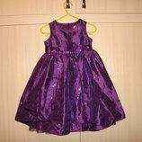 F&F Нарядное платье с пайетками на 1-2 года в идеале