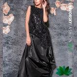 Черное платье вечернее в пол