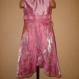 длинное платье с цветами на 4-5 лет F&F