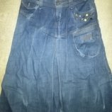 Джинсовая юбка фирменная р. 44-46наш