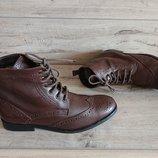 Ботинки утепленные кожа натуральная 43 р 9 р 28,5 см Ask the Missus броги оксворды