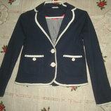 Супер пиджак next ,шри-ланка,100%коттон,темно-синего цвета,12лет,152см..