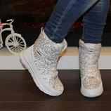 Белые зимние ботинки 36 37 39 40 41