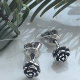Серьги серебряные гвоздики пусеты Роза 2190