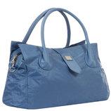 Дорожная малая спортивная сумка текстильная синяя Эпол 23602 Epol