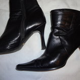 Женские ботильоны ботинки чёрные кожаные осенние Covani р.39