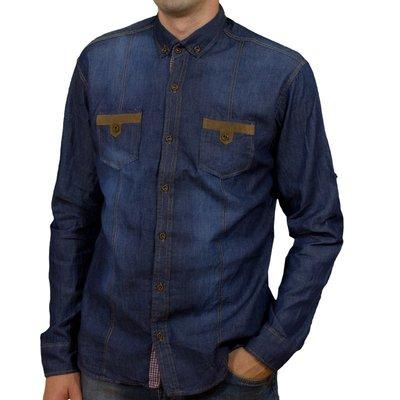 Senato, джинсова чоловіча сорочка синього кольору, Туреччина