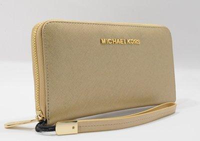 22bf9d666837 Кошелек женский кожаный на молнии Michael Kors 60019-D золотистый, расцветки