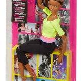 Barbie Made To Move Кукла Барби Йога Шарнирная Афроамериканка