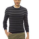 Мужской свитер светло-темно-серого цвета LC Waikiki в синие полоски