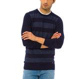 Мужской свитер темно-синего цвета LC Waikiki в голубые полоски спереди