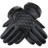 Комфортные перчатки мужские для сенсорных экранов код 15 очень теплые