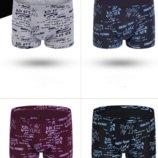 Классические мужские трусы боксеры 4 шт. в упаковке с надписями