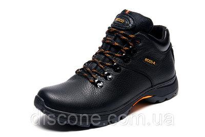 Мужские высокие кожаные зимние ботинки Ecco