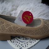 Туфли нарядные, бежевые для девочки новые размеры 30, 34