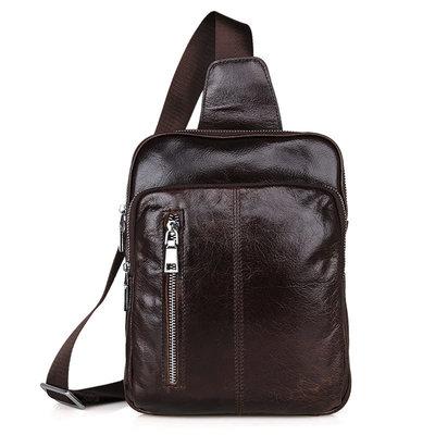 Рюкзак сумка через плече Стиляга 3 кожа