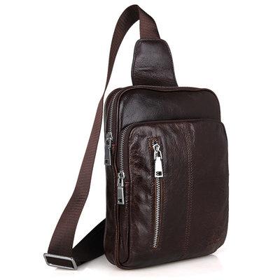 Рюкзак сумка через плече натуральная кожа Стиляга