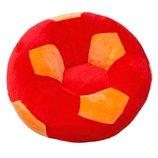 Детское Кресло мяч большое красно-оранжевое