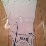 Стильное спортивное белое платье в пол с пышным низом. s-m.