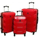 Дорожный Чемодан сумка Carbon 720 набор 3 штуки красный