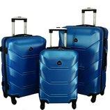 Дорожный Чемодан сумка Carbon 720 набор 3 штуки синий
