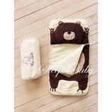Спальный плед-конверт Мишка для детей есть размеры