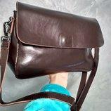 Удобная кожаная сумочка-клатч Синди 2 , цвет шоколад