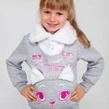 Теплющий джемпер для девочки 5-6,5 лет