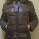 Супер Стильный Брендовый Куртка Пуховик-Зима Шоколад 2XL