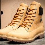 Ботинки на меху Timberland 6 premium boot,зимние,мужские,натуральная кожа,коричневый