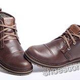 Зимние кожаные ботинки Clarks Urban Tribe коричневые
