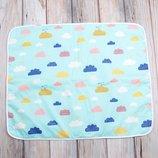 Непромокаемая пеленка MagBaby 60 80 см Цветные облака