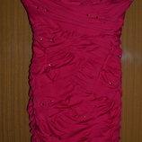 Новогоднее секси платье - сарафан nikibiki с роскошной драппировкой и стразами