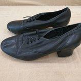 Продам, кожаные туфли для танцев степа, чечетки 4р.