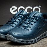 Мужские кроссовки на меху Ecco Biom,натуральная кожа,зимние,синий
