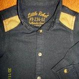 Стильная рубашка Rebel на 9-18 мес. В идеальном состоянии.