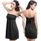 Пляжное платье с резинкой без бретель разные цвета AL6379