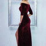 Скоро праздник 2 модели 6 расцветок шикарных велюровых платьев