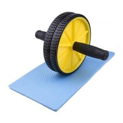 Тренажер колесо для пресса двойное с ковриком